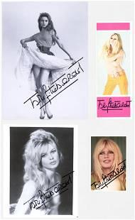 Brigitte Bardot (4) Signed Photos Beckett COA's