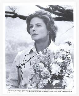 Ingrid Bergman Publicity Photo Signed Beckett COA