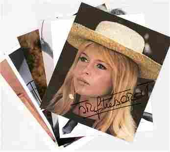 Brigitte Bardot (6) Signed Photos Beckett COA's