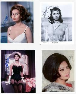 Sophia Loren (4) Signed Photos