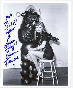 Anne Francis Publicity Photo Signed [Robby Robot]