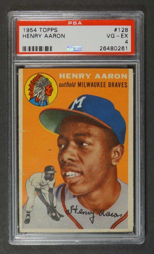 1954 Topps Hank Aaron RC Card PSA 4