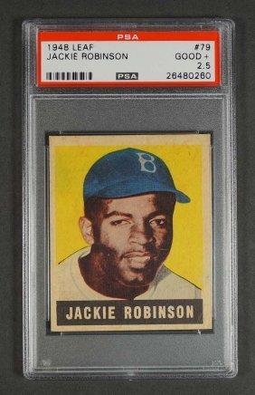 1948 Leaf #79 Jackie Robinson RC PSA 2.5