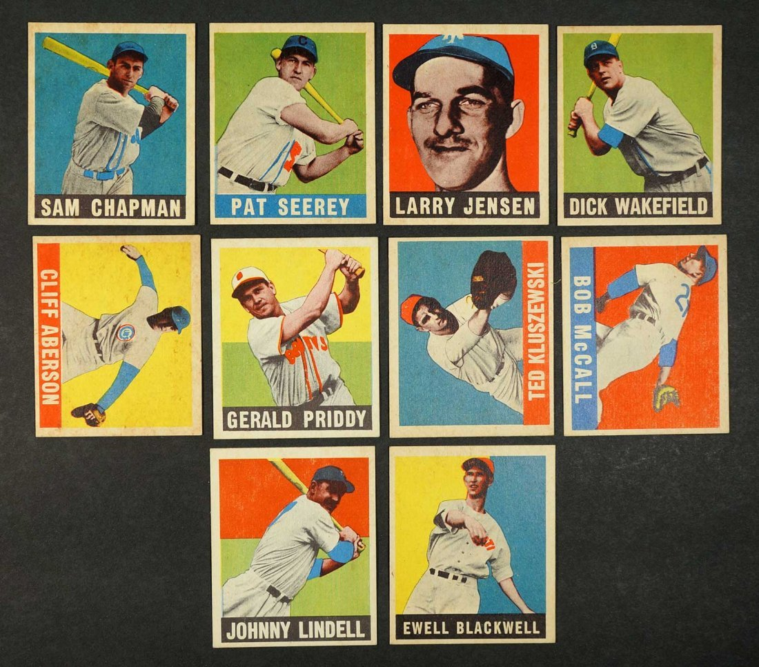Group of 1948 Leaf Baseball Cards