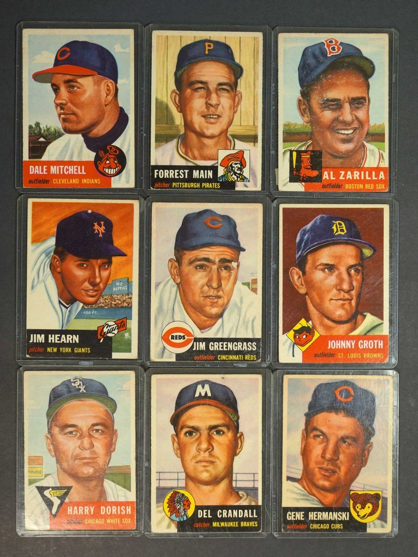 1953 Topps Baseball Cards