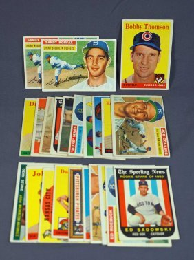 Group Vintage Baseball Cards (22)