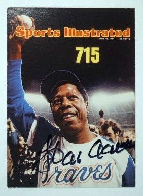 Hank Aaaron 1997 Fleer Signed Baseball Card