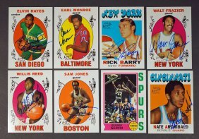 Group of (8) 1996 Topps Autograph Basketball Cards