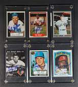 Collection (10) Autographed Baseball Cards