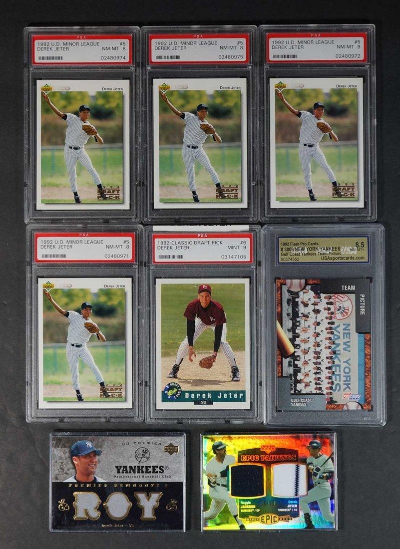 Derek Jeter BB Cards Graded, Rookie, Game-Used