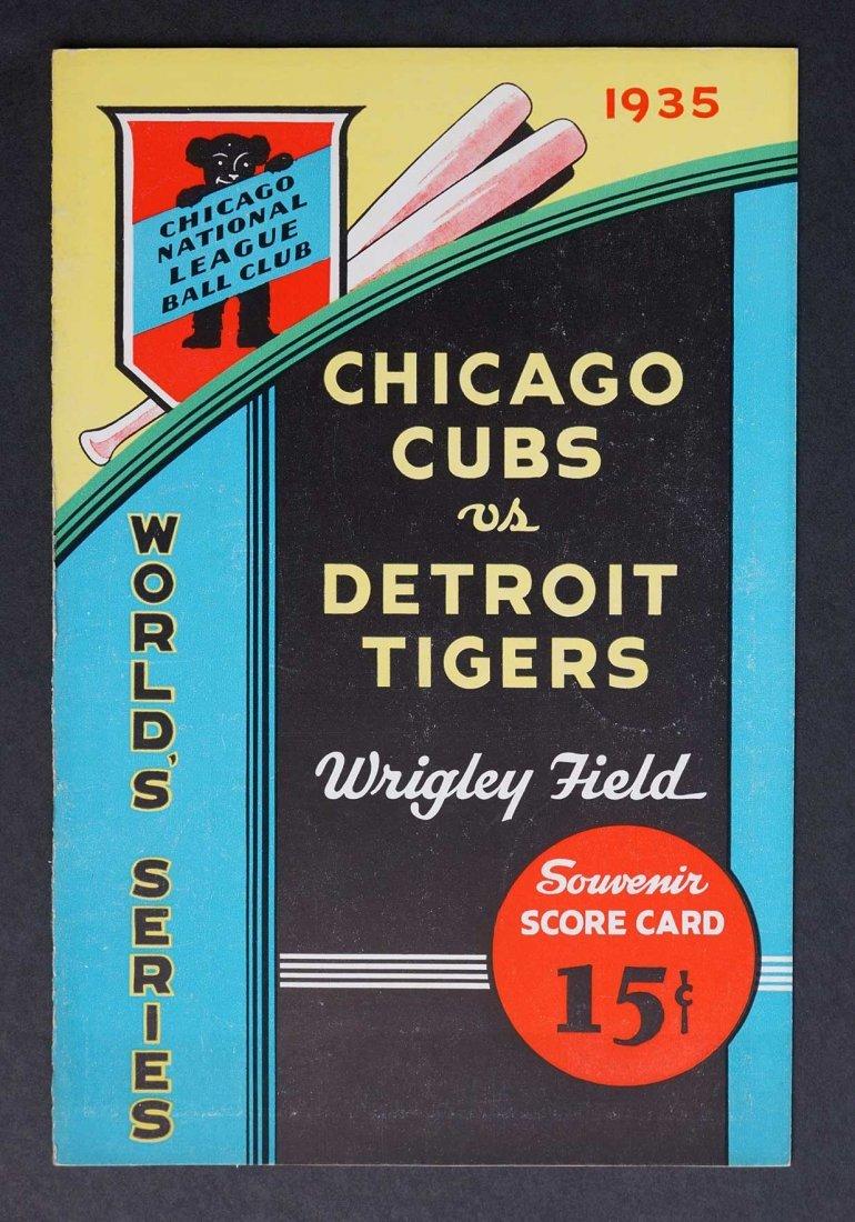 1935 World Series Program Chicago Cubs vs. Tigers