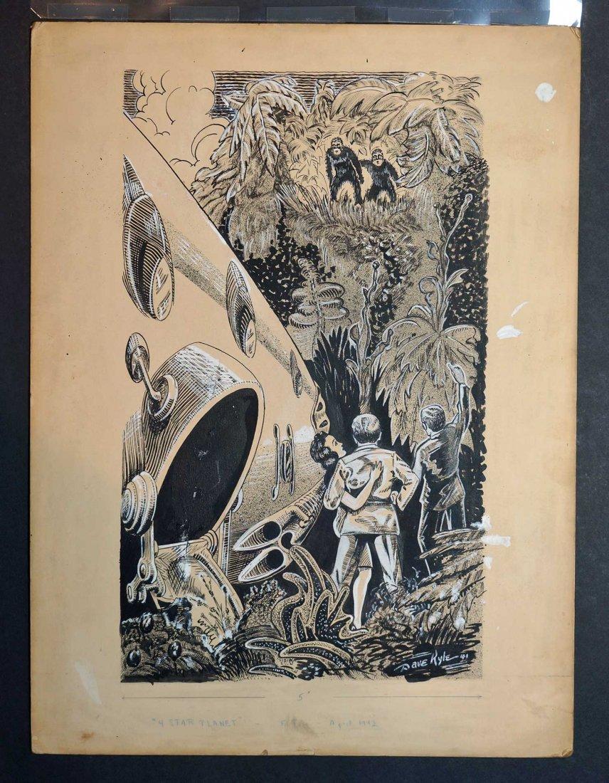 Dave Kyle Original Magazine Art Future Fiction - 2