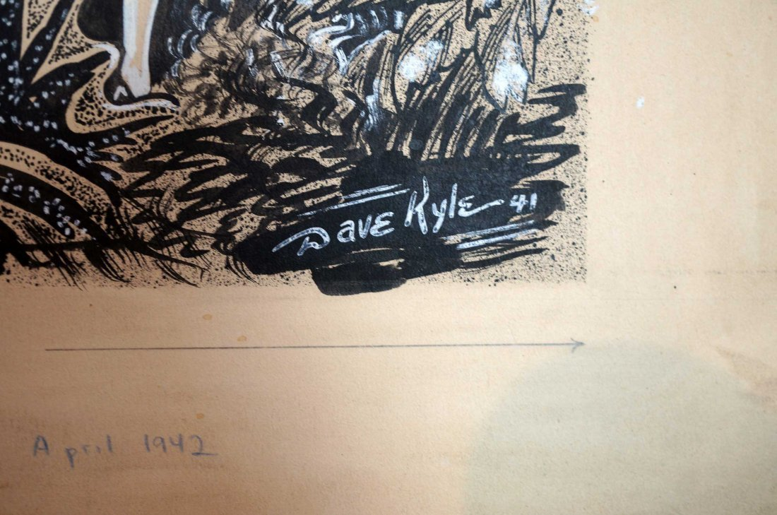 Dave Kyle Original Magazine Art Future Fiction - 3