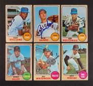 1968 Topps Signed Baseball Cards 6