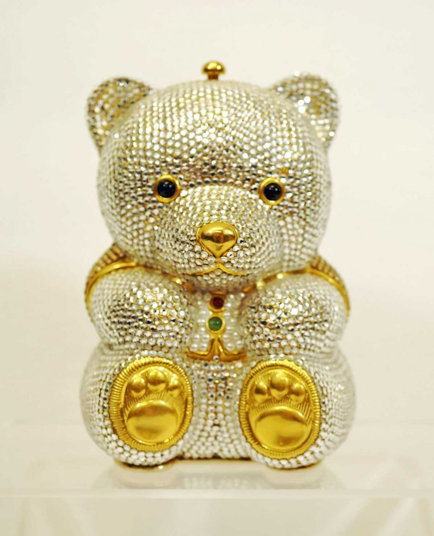 Judith Leiber Swarovksi Crystal Bear Minaudiere