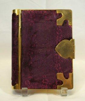 Judith Leiber Snakeskin Book Minaudiere