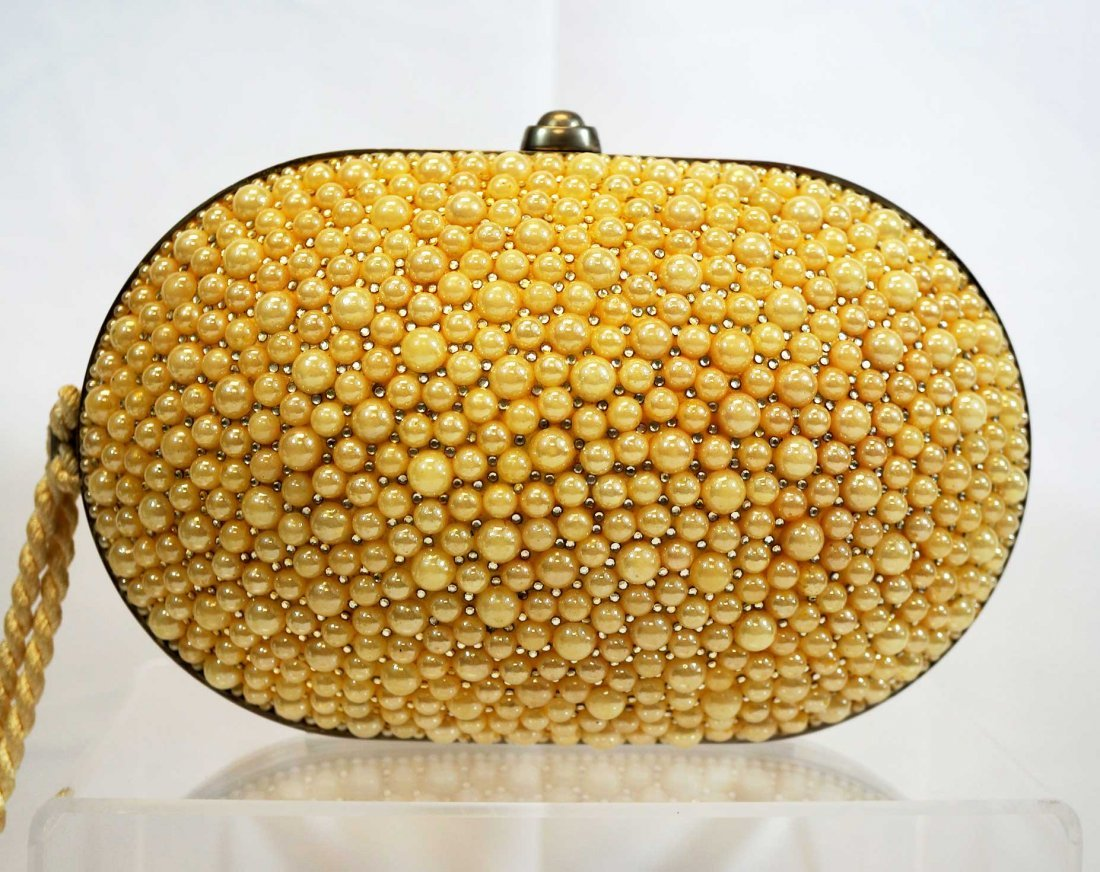 Judith Leiber Faux Pearl Evening Bag