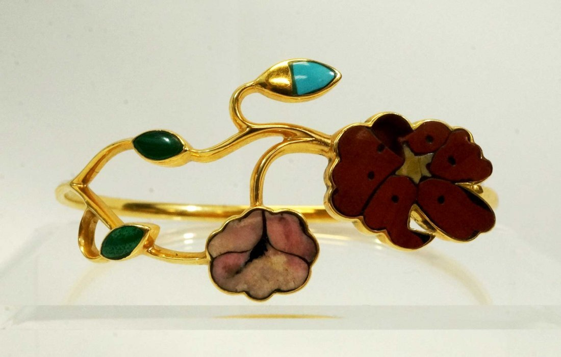 Gucci Italy 18K Gold Multi-Stone Bracelet