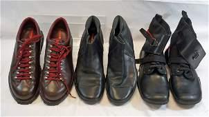 Prada Three Pairs of Mens Boots Size 13 US
