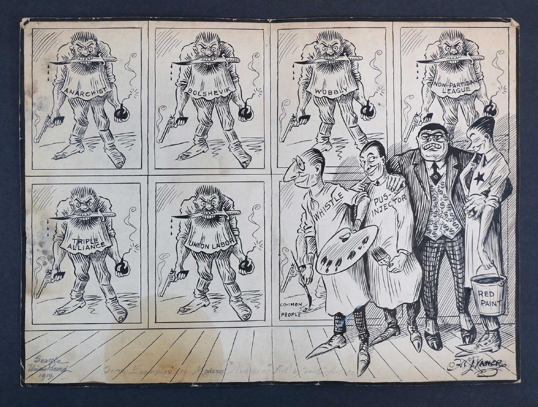 Henry M. Xavier 1919 Political Cartoon