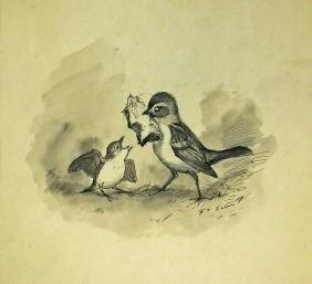 Ernest Seton (1860-1946) Original Pen & Ink