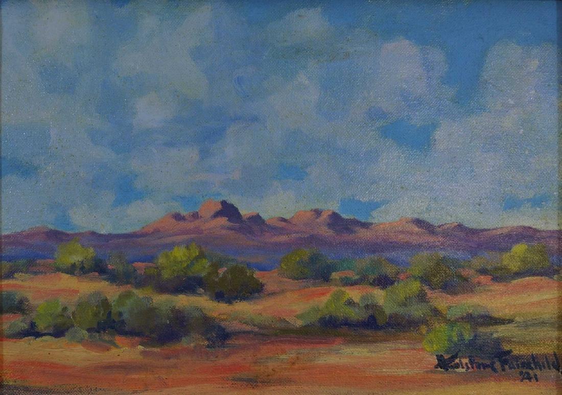 Hurlstone Fairchild (AZ, 1893-1966) Oil/Board