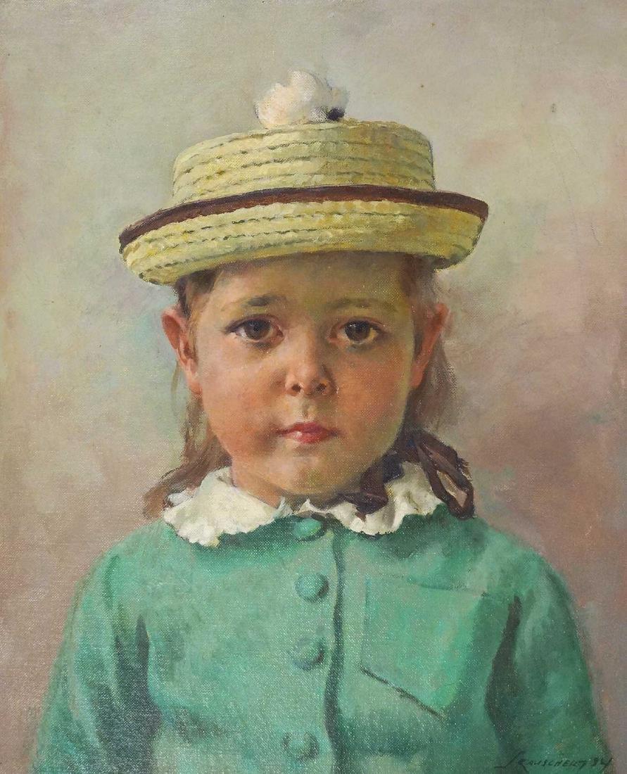 Jules Karl Rauschert (1896-1975) Oil/Board