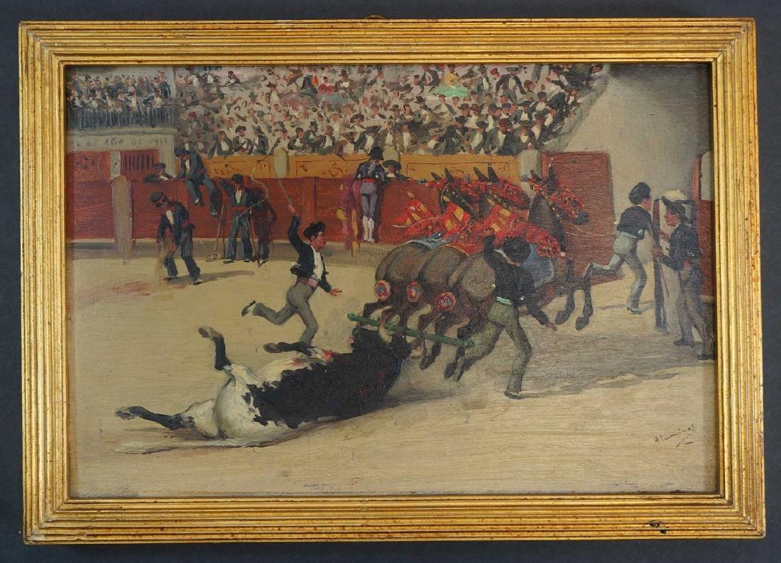 Juan Alaminos (Spain, 19th c.) Bullfighting Oils