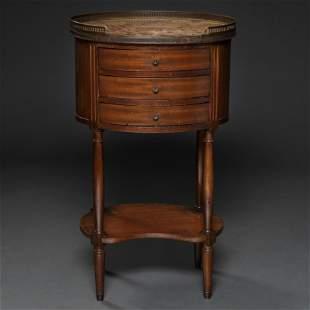 Mesa auxiliar francesa estilo Luís XVI en madera