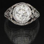 Anillo Solitario de diamante talla antigua de 3,10 Qt