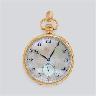 LONGINES - Reloj de bolsillo en oro amarillo de 18 kt