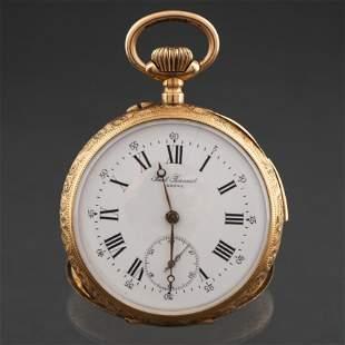 PAUL JEANNOT, GENÉVE Reloj de bolsillo en oro