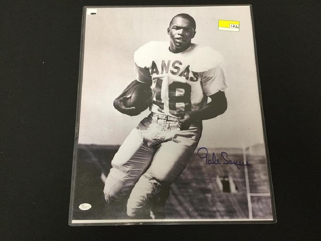 """16x20 HAND SIGNED COA, the ICONIC """"GALE SAYERS""""  THIS"""