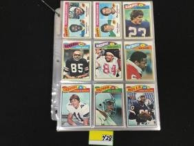 LARGE GROUP OF 1977 TOPPS FOOTBALL