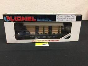 LIONEL ONTARIO NORTHLAND WITH WOOD LOAD 6-16347 LNIB