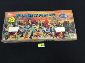 VINTAGE REDBOX WILD WEST PLAY SET. APPEARS UNOPENED AND