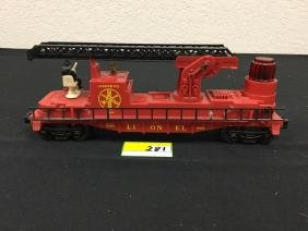 VINTAGE LIONEL LADDER COMPANY FIRE CAR. FULLY