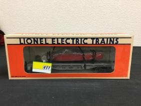 VINTAGE LIONEL UNITED STATES NAVY FLATCAR WITH BOAT.