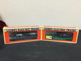 TWO FOR ONE. VINTAGE LIONEL FLATCARS. ONE NEW YORK