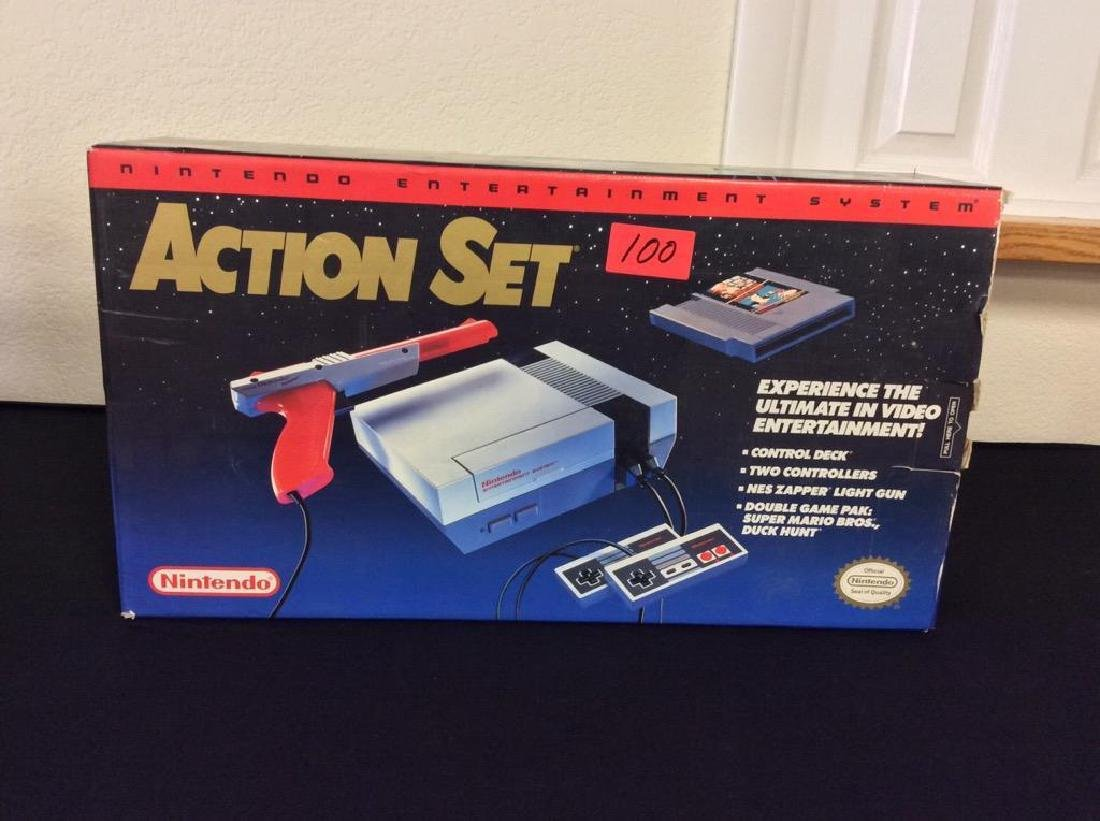 VINTAGE NINTENDO ENTERTAINMENT SYSTEM. INCOMPLETE WITH