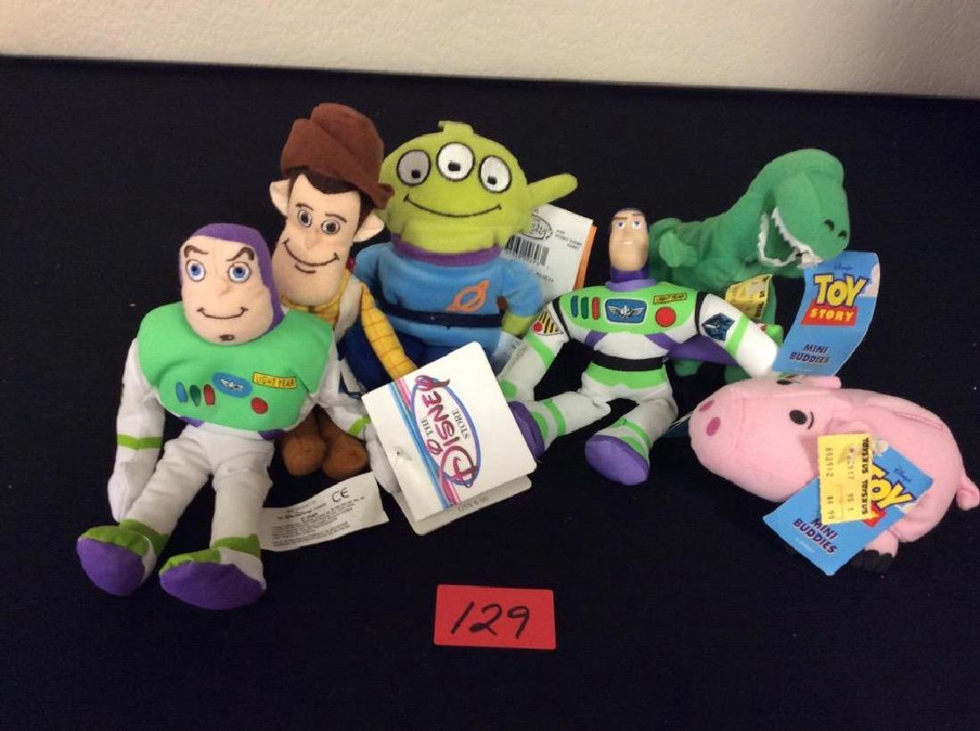 ASSORTED VINTAGE TOY STORY MINI FIGURINES. BUZZ, WOODY