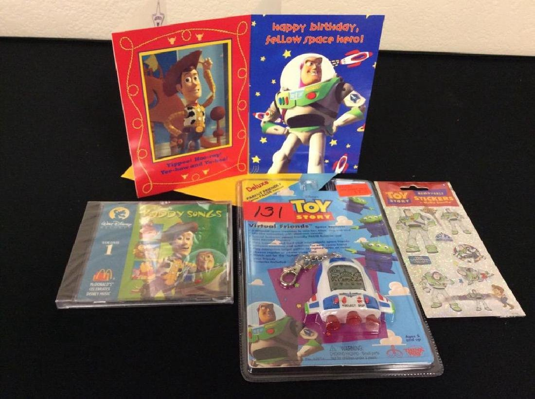 VINTAGE ORIGINAL TOY STORY ASSORTED ITEMS. TWO BIRTHDAY