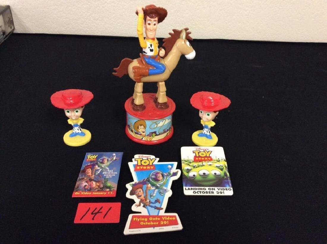ODD LOT OF TOY STORY ONE AND 2 PIECES. BOBBLEHEADS,