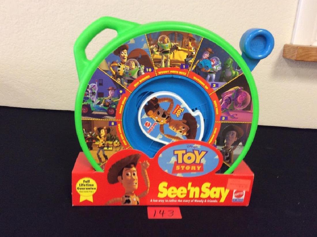 VINTAGE TOY STORY SEE' N SAY BY MATTEL. NEW IN BOX. ALL