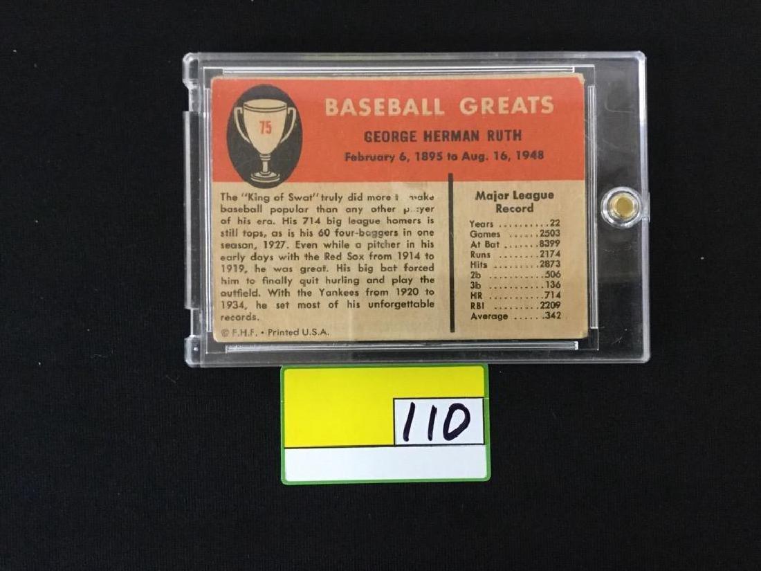 1961 Fleer Babe Ruth #75 - 2