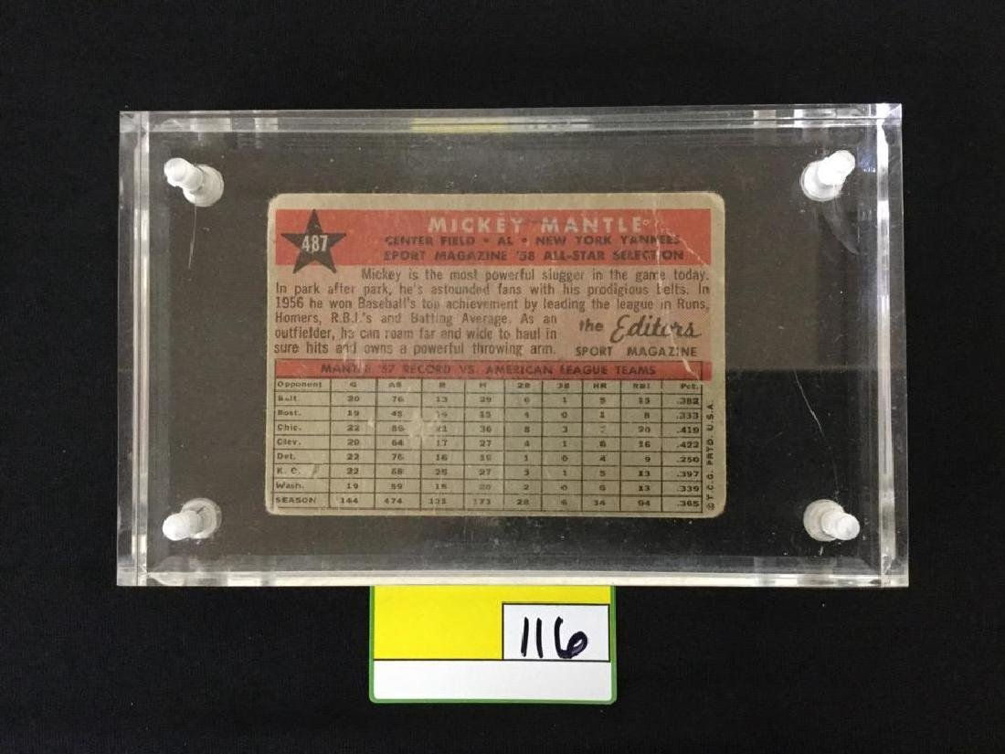1958 Topps Mickey Mantle All Star - 2