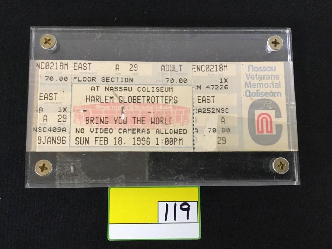 1996 Harlem Globetrotter ticket stub