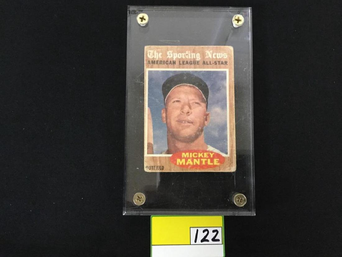 1962 Topps Mickey Mantle #471 Sporting News