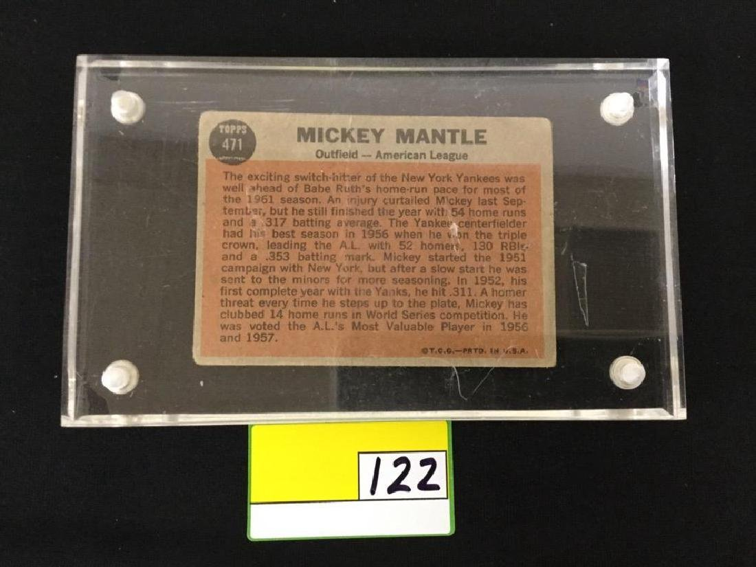 1962 Topps Mickey Mantle #471 Sporting News - 2