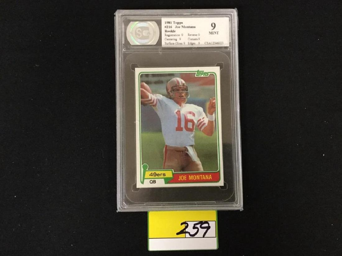 1981 Topps Joe Montana Rc Graded mint 9